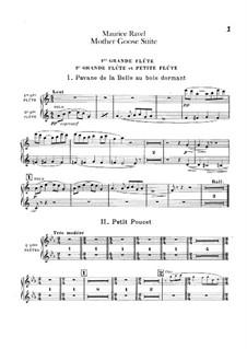 Meine Mutter die Gans. Suite, M.60: Für Orchester – Flötenstimmen by Maurice Ravel