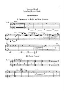 Meine Mutter die Gans. Suite, M.60: Für Orchester – Klarinettenstimme by Maurice Ravel