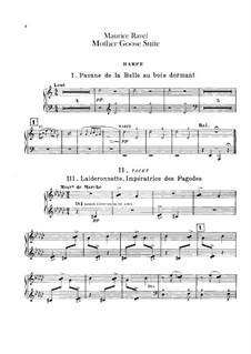 Meine Mutter die Gans. Suite, M.60: Für Orchester – Harfestimme by Maurice Ravel