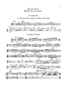Meine Mutter die Gans. Suite, M.60: Für Orchester – Violinstimme I by Maurice Ravel