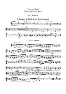 Meine Mutter die Gans. Suite, M.60: Für Orchester – Violinstimme II by Maurice Ravel