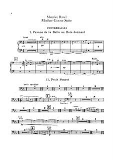 Meine Mutter die Gans. Suite, M.60: Für Orchester – Kontrabassstimme by Maurice Ravel