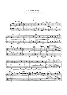 Valses nobles et sentimentales, M.61: Fagottenstimme by Maurice Ravel
