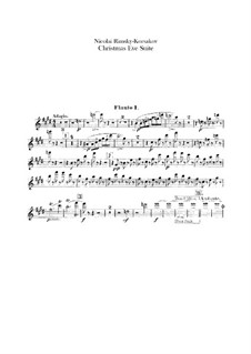 Die Nacht vor dem Christfeste. Suite: Flötenstimmen by Nikolai Rimsky-Korsakov