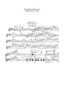 Die Nacht vor dem Christfeste. Suite: Violinstimme I by Nikolai Rimsky-Korsakov