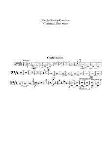 Die Nacht vor dem Christfeste. Suite: Kontrabassstimme by Nikolai Rimsky-Korsakov