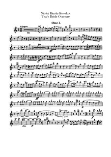 Zarenbraut: Ouvertüre – Oboen- und Englischhornstimmen by Nikolai Rimsky-Korsakov