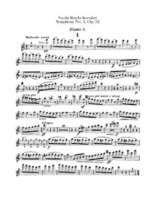Sinfonie Nr.3 in C-Dur, Op.32: Flötenstimme by Nikolai Rimsky-Korsakov