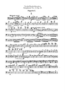 Sinfonie Nr.3 in C-Dur, Op.32: Fagottstimme by Nikolai Rimsky-Korsakov