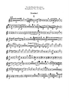 Sinfonie Nr.3 in C-Dur, Op.32: Trompetenstimmen by Nikolai Rimsky-Korsakov