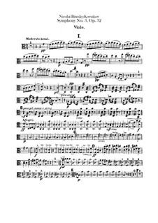 Sinfonie Nr.3 in C-Dur, Op.32: Violastimme by Nikolai Rimsky-Korsakov