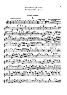 Scheherazade, Op.35: Piccoloflötenstimme by Nikolai Rimsky-Korsakov