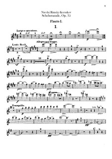 Scheherazade, Op.35: Flötenstimmen I, II by Nikolai Rimsky-Korsakov