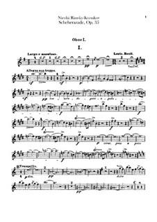 Scheherazade, Op.35: Oboen- und Englischhornstimmen by Nikolai Rimsky-Korsakov