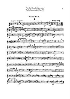 Scheherazade, Op.35: Waldhornstimmen I, II by Nikolai Rimsky-Korsakov