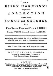 The Essex Harmony: Klavierauszug mit Singstimmen by John Blow, Henry Purcell, Georg Friedrich Händel, Henry Carey, John Arnold