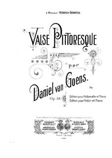 Valse pittoresque für Cello und Klavier, Op.38: Partitur by Daniel Van Goens