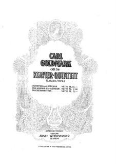 Klavierquintett Nr.2 in cis-Moll, Op.54: Vollpartitur und Stimmen by Karl Goldmark