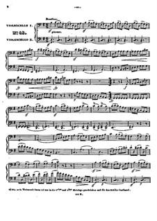 Vierundzwanzig kleine leichte Duette für zwei Cellos, Op.42: Nr.16-24 by Johann Benjamin Gross