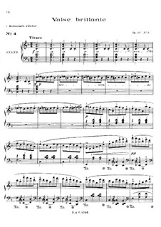 Walzer, Op.34: Nr.3 in F-Dur by Frédéric Chopin