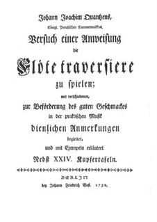 Versuch einer Anweisung die Flöte Traversiere: Introduktion by Johann Joachim Quantz