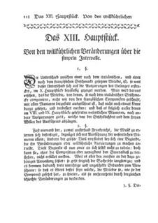 Versuch einer Anweisung die Flöte Traversiere: Kapitel XIII-XVI by Johann Joachim Quantz
