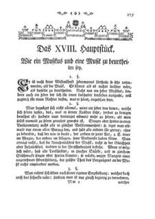 Versuch einer Anweisung die Flöte Traversiere: Kapitel XVIII by Johann Joachim Quantz