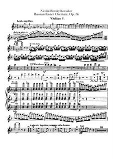 Russische Ostern, Op.36: Violinstimme I by Nikolai Rimsky-Korsakov