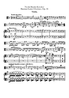 Russische Ostern, Op.36: Violastimme by Nikolai Rimsky-Korsakov