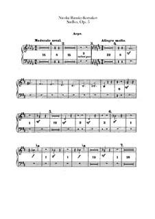 Sadko. Musikalische Gemälde, Op.5: Harfestimme by Nikolai Rimsky-Korsakov