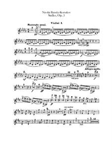 Sadko. Musikalische Gemälde, Op.5: Violinstimmen I by Nikolai Rimsky-Korsakov