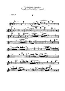 Sinfonie Nr.2 in fis-Moll 'Antar', Op.9: Flötenstimme by Nikolai Rimsky-Korsakov