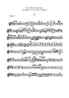 Sinfonie Nr.2 in fis-Moll 'Antar', Op.9: Oboen- und Englischhornstimmen by Nikolai Rimsky-Korsakov