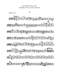 Sinfonie Nr.2 in fis-Moll 'Antar', Op.9: Fagottstimme by Nikolai Rimsky-Korsakov