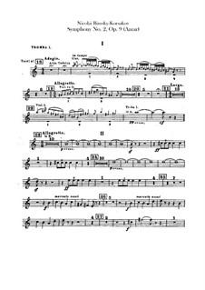 Sinfonie Nr.2 in fis-Moll 'Antar', Op.9: Trompetenstimmen by Nikolai Rimsky-Korsakov