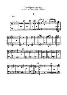 Sinfonie Nr.2 in fis-Moll 'Antar', Op.9: Harfenstimme by Nikolai Rimsky-Korsakov