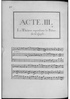 Telemaque: Akte III-V by André Campra