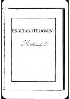 Exaltabo te, Domine: Exaltabo te, Domine by Michel Richard de Lalande