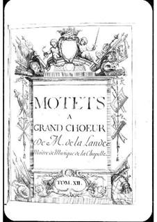 Motetten (Sammlungen): Band XII by Michel Richard de Lalande