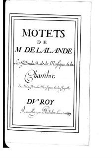 Grosse Motetten (Sammlungen): Buch II by Michel Richard de Lalande