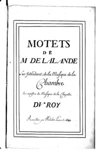 Grosse Motetten (Sammlungen): Buch III by Michel Richard de Lalande