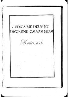 Judica me Deus: Judica me Deus by Michel Richard de Lalande