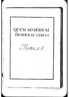 Quem admodum: Quem admodum by Michel Richard de Lalande
