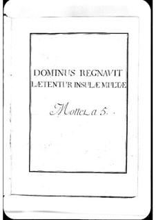 Dominus regnavit: Dominus regnavit by Michel Richard de Lalande