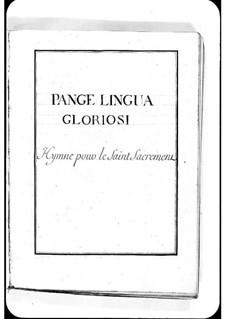 Pange lingua gloriosi: Pange lingua gloriosi by Michel Richard de Lalande