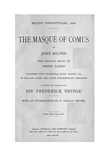 The Masque of Comus: Für Solisten, Chor und Klavier by Henry Lawes