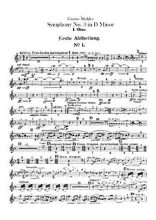 Sinfonie No.3 in d-Moll: Oboen- und Englischhornstimmen by Gustav Mahler