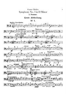 Sinfonie No.3 in d-Moll: Posaune- und Kontrabasstubastimmen by Gustav Mahler