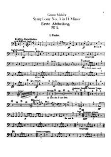 Sinfonie No.3 in d-Moll: Schlagzeugstimmen by Gustav Mahler