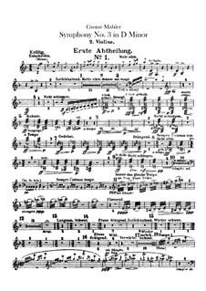 Sinfonie No.3 in d-Moll: Violinstimme II by Gustav Mahler